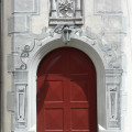 Tür zum Treppenturm mit Illusionsmalerei