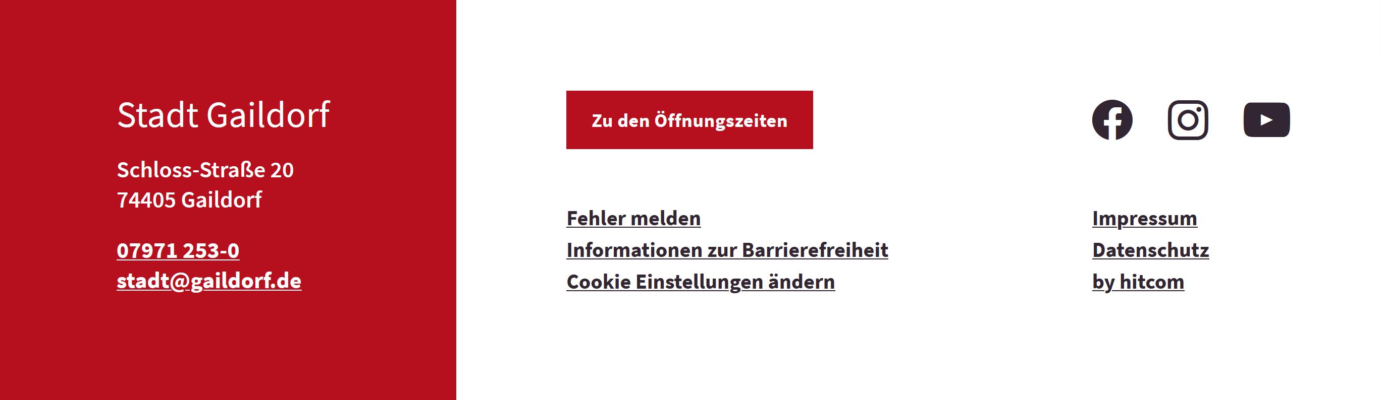 Gaildorf - Fußzeile