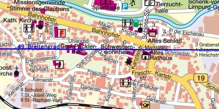 49. Breitengrad Gaildorf