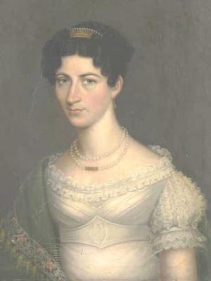 Portrait von Amalie Charlotte Auguste zu Waldeck-Pyrmont und Limpurg-Gaildorf