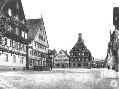 alte Photographie des Gaildorfer Marktplatzes