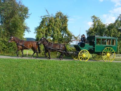 Pferdeomnibus der Kochertaler Fuhrhalterei